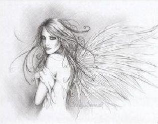 Anioł ze skrzydłami motyla