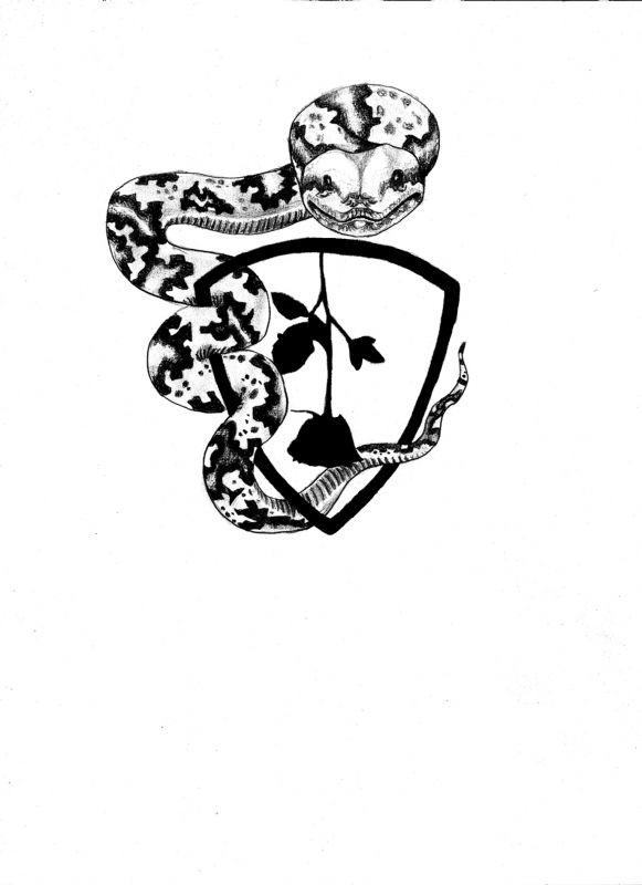 Tatuaż wzór z wężem