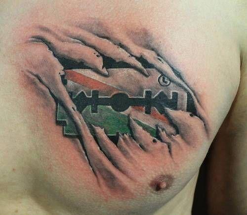Biomechanika żyletka Legia Warszawa Tatuaż