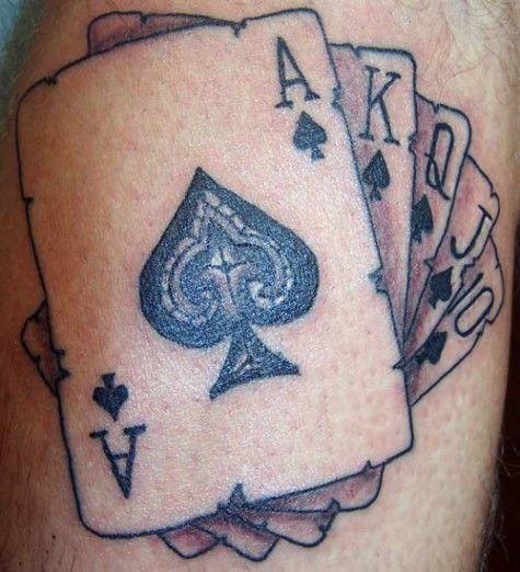 Czarny Poker Z Kart Tatuaż