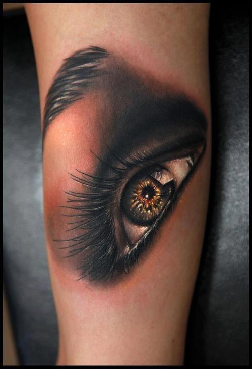 Damskie Oko Tatuaż