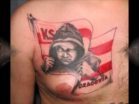 Flaga Biało Czerwone Pasy Tatuaż
