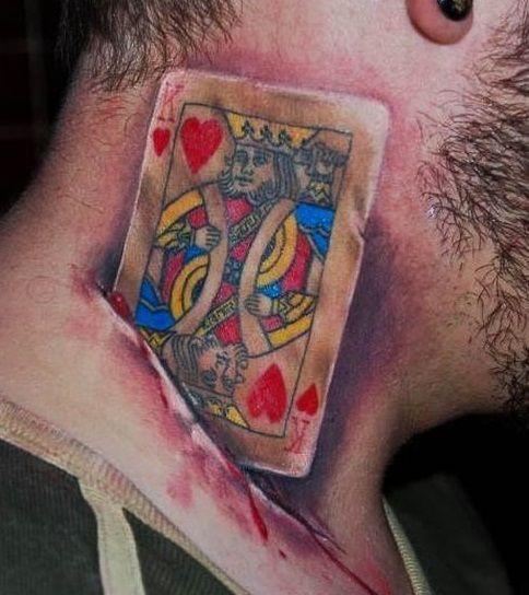 Karta Król Czerwo Tatuaż
