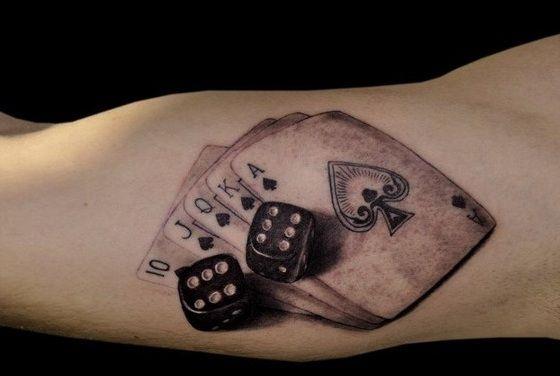 Karty Poker Pik I Dwie Kości Tatuaż