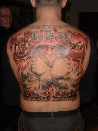 Kibic Widzew Łódź tatuaż