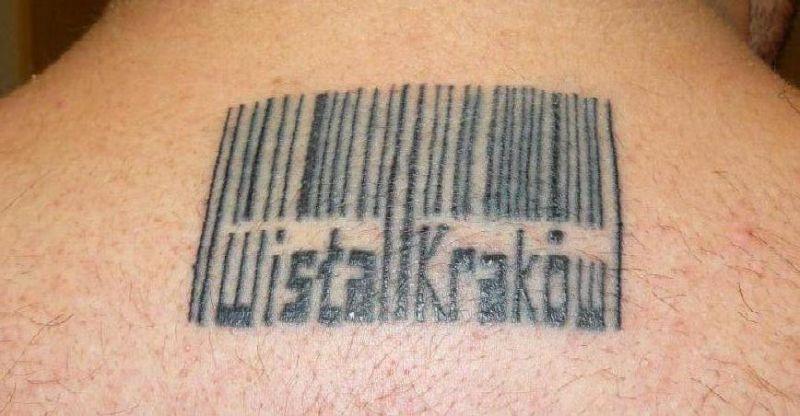 Kod Kreskowy Wisła Kraków Tatuaż