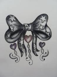 Kokardka Z Serduszkami Wzór Tatuażu