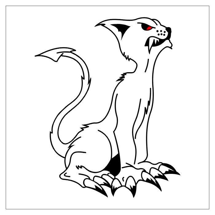 Kot Z Pazurami Wzór Tatuażu