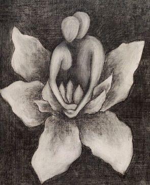 Kwiat lotosu i para wzór tatuażu
