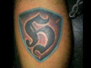 Logo Ruch Chorzów kolor tatuaż