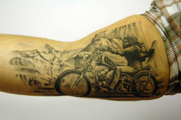 Motocyklista Tatuaż