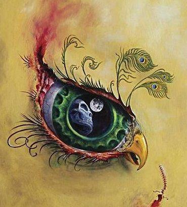 Oko paw wzór tatuażu