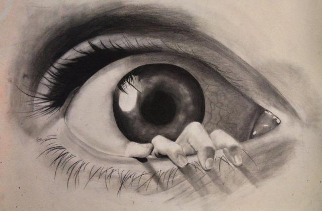 Oko z ręką tatuaż wzór 3D