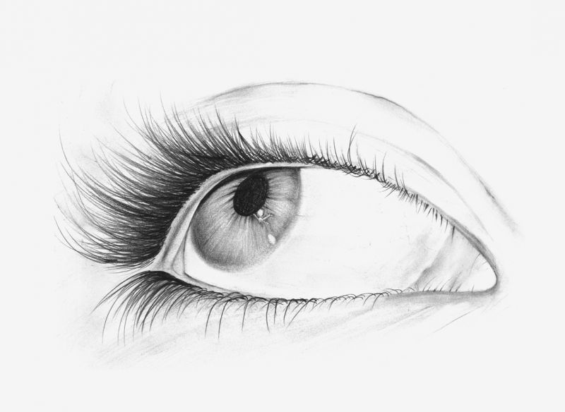 Prawe oko tatuaż wzór