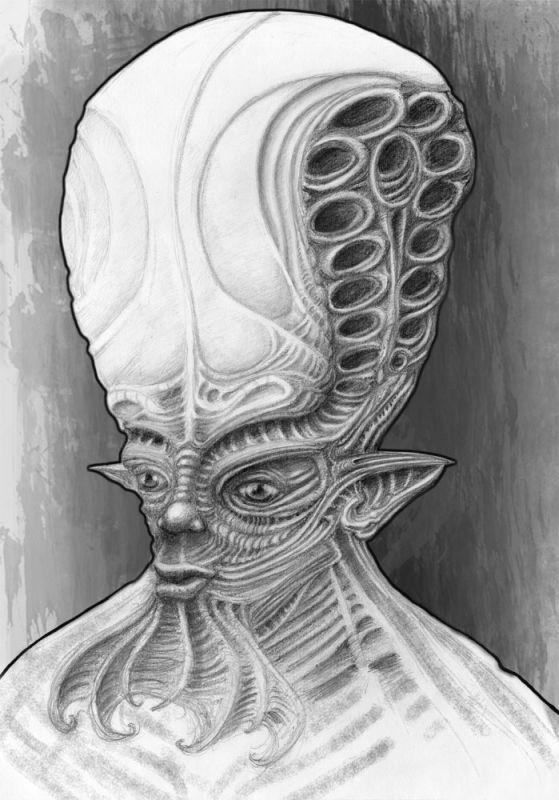 Przerażająca postać tatuaż wzór