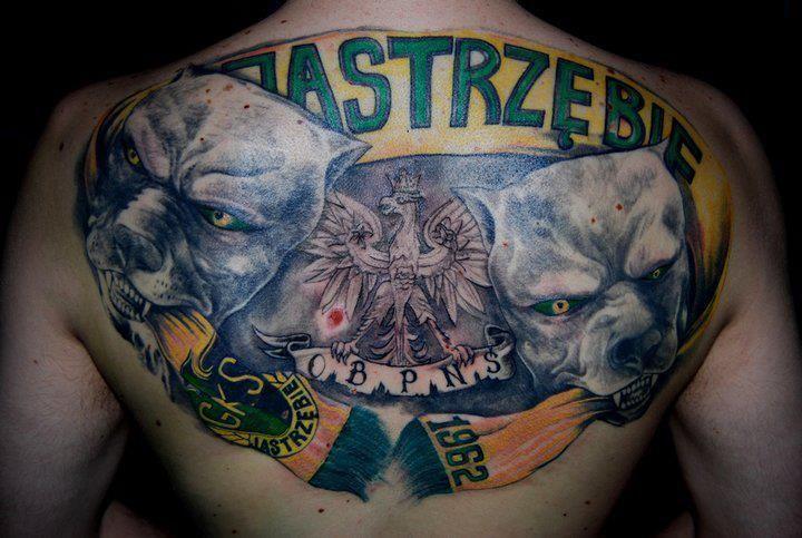 Tatuaż Psy I Logo Gks Jastrzębie
