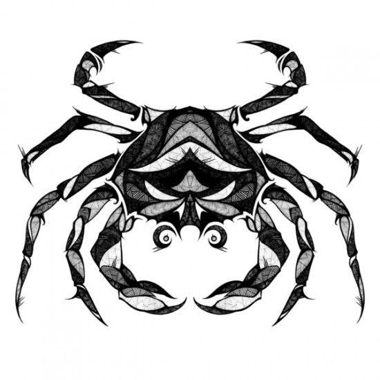 Znak Zodiaku Rak Tatuaż Rak Tatuaż ze Znakiem Zodiaku
