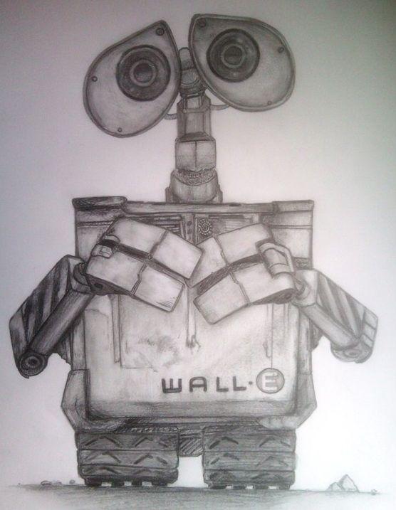 Robot Walle wzór tatuażu