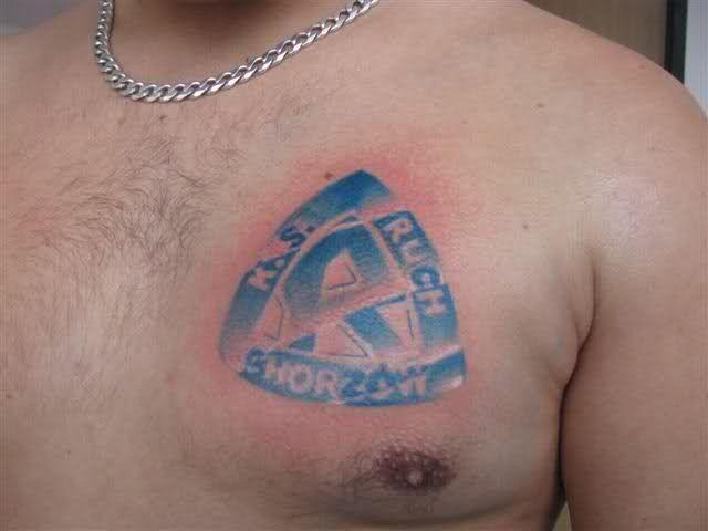 Ruch Chorzów Tatuaż Na Piersi