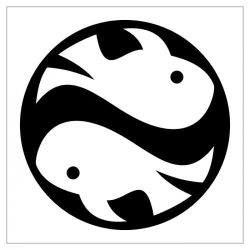 Symbol zodiakalny ryby tatuaż