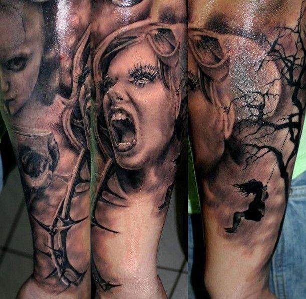 Twarz Kobiety Tatuaż