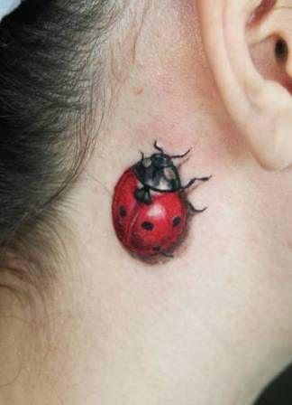 Tatuaż Biedronka 3d