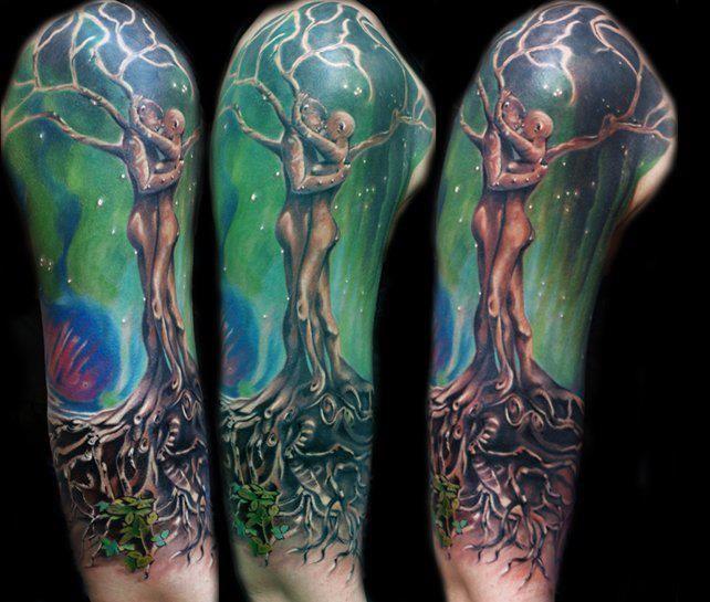 Tatuaż Drzewo Z Ludzi