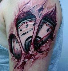 Biomechanika tatuaż zegar auto