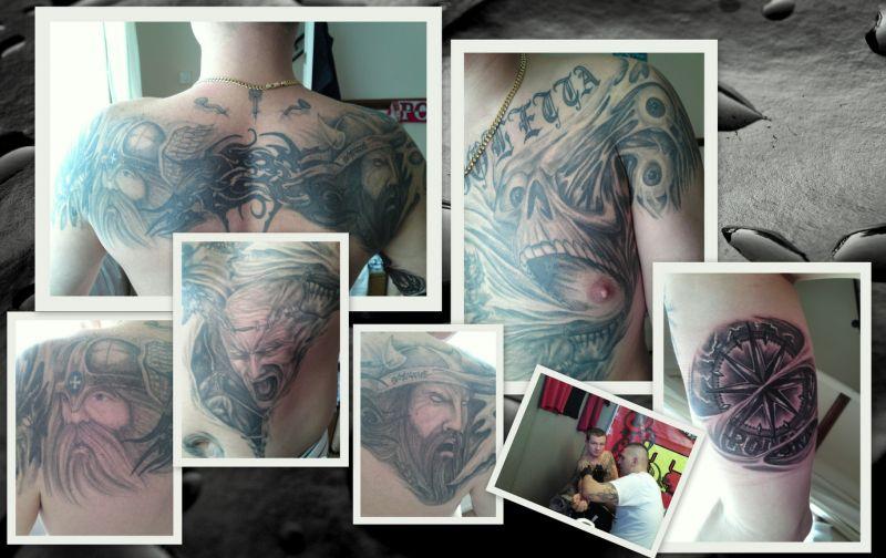Tatuaże głowy demony