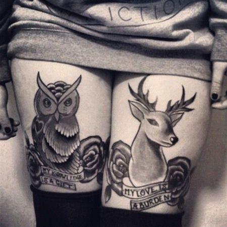 Tatuaże Na Nogach Zwierzęta