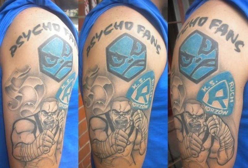 Tatuaż Kibica Ruch Chorzów