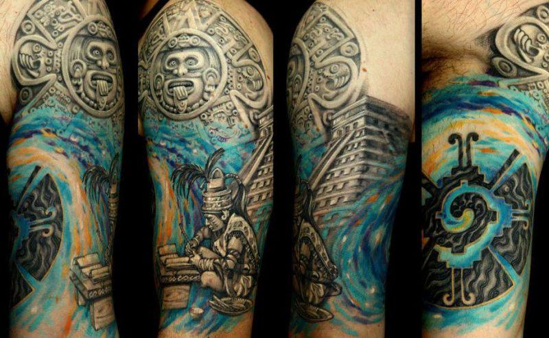 Tatuaż Motyw Majów
