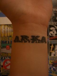 Tatuaż na nadgarstku Arka