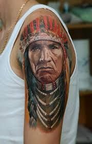 Tatuaż z Indianinem