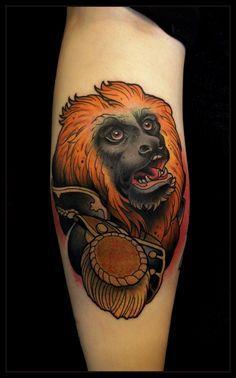 Tatuaż z małpą