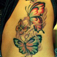 Pięć motyli tatuaż