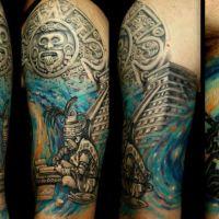 Tatuaż budda i symbole
