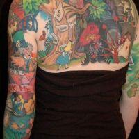 Bajkowe motywy tatuaż