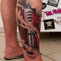Tatuaż biomechanika amortyzator