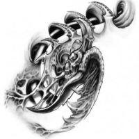 Biomechanka demon wzór tatuażu
