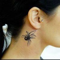 Czarny pająk 3D