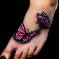 Dwa różowe motyle