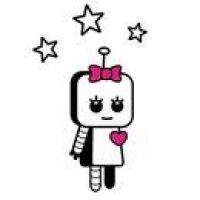 Dziewczynka robot wzór tatuażu
