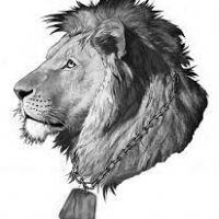 Głowa lwa wzór tatuażu