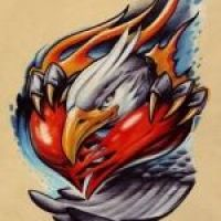 Głowa orła wzór tatuażu