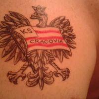 Godło Polski z flagą Cracovi