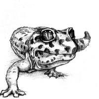 Jaszczurka w czarne kropki wzór tatuażu