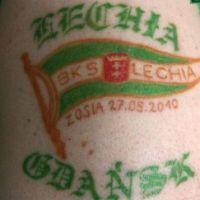 Barwy Lechia Gdańsk tatuaż