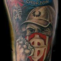 Kibic Ruch Chorzów tatuaż