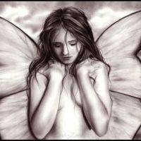 Kobieta motyl wzór tatuażu